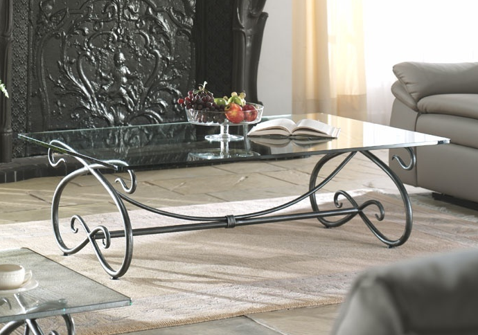 Coffee table wrought iron