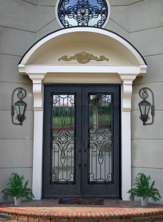 installation thermique portes d 39 entr e vitr es fer forg