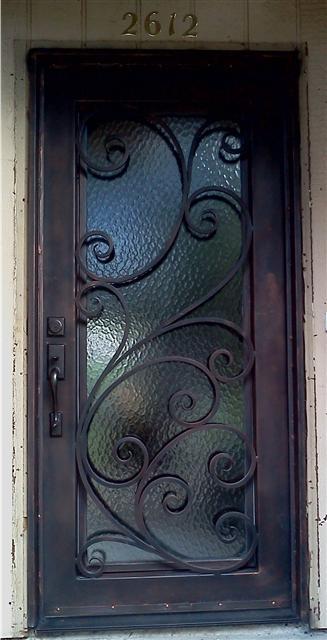 Porte dentre en fer forg porte en fer porte en for Porte d entree acier prix