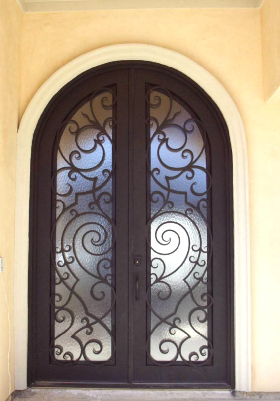 porte d entr e en fer forg porte en fer porte en acier design