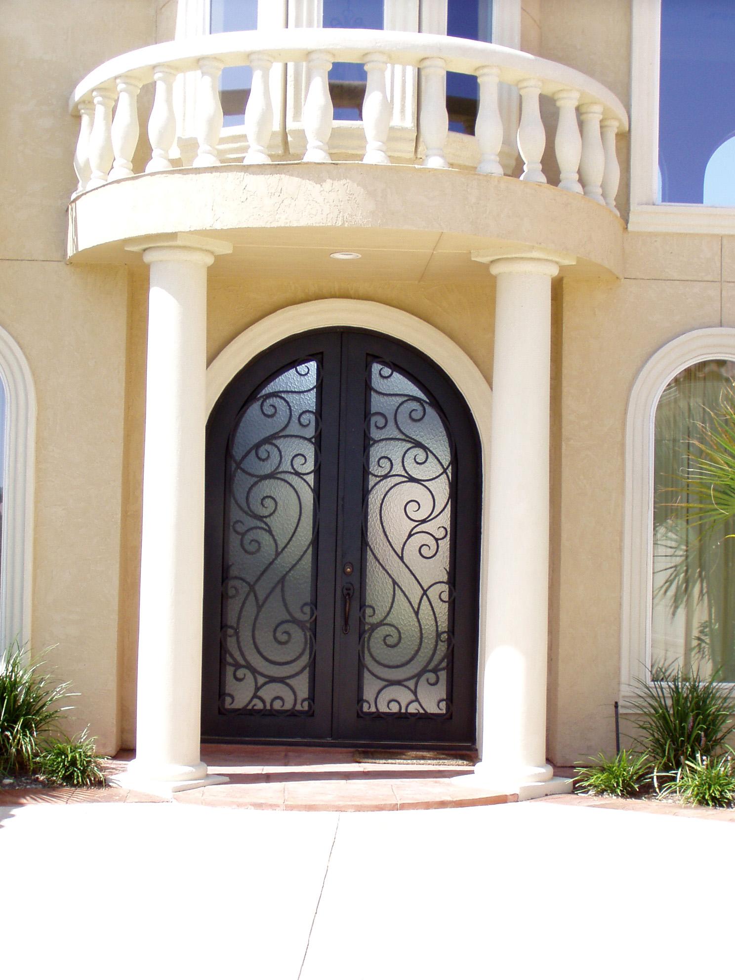 Porte dentre en fer forg porte en fer porte en for Porte en fer pour garage