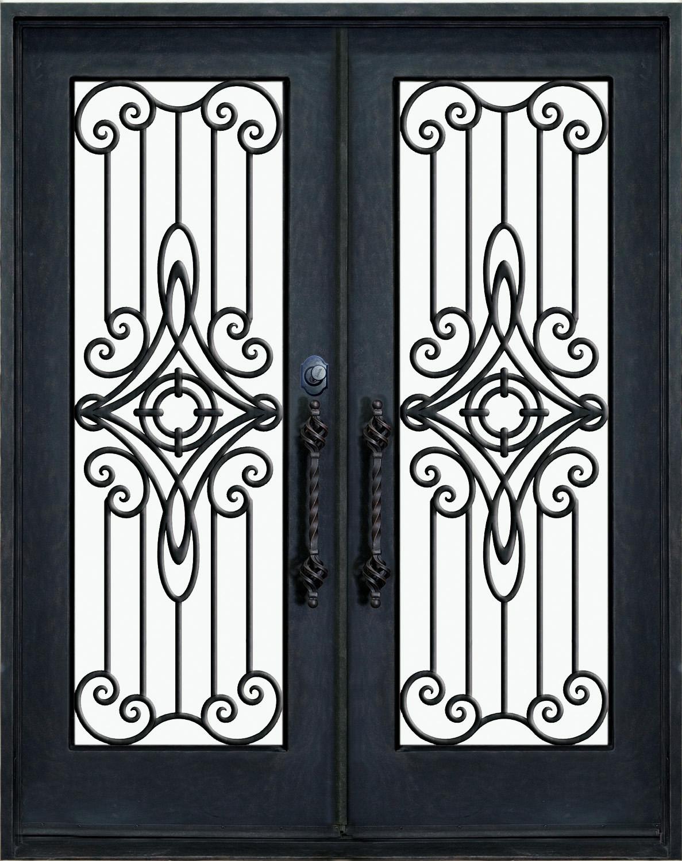 Porte dentre en fer forg porte en fer porte en - Porte fer forge exterieur ...