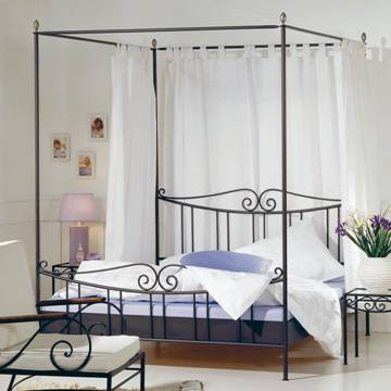 lit a baldaquin en fer forg himmelbett aus schmiedeeisen. Black Bedroom Furniture Sets. Home Design Ideas