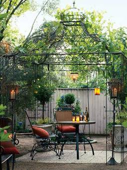 pergola en fer forg tonnelle abris de jardin gloriette en acier pergola en fer forg p rgola. Black Bedroom Furniture Sets. Home Design Ideas