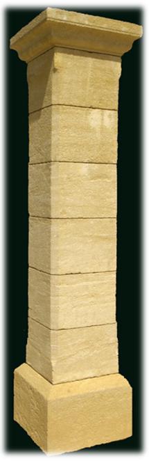 pilier en pierre naturelle pilier de portail pilier portail. Black Bedroom Furniture Sets. Home Design Ideas
